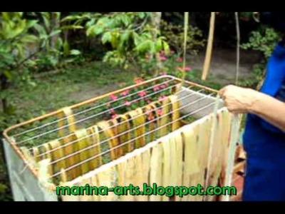 Fibra da Bananeira - Processo de extração das fibras passo a passo