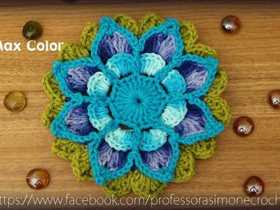 Flor em crochê Maxcolor - Professora Simone