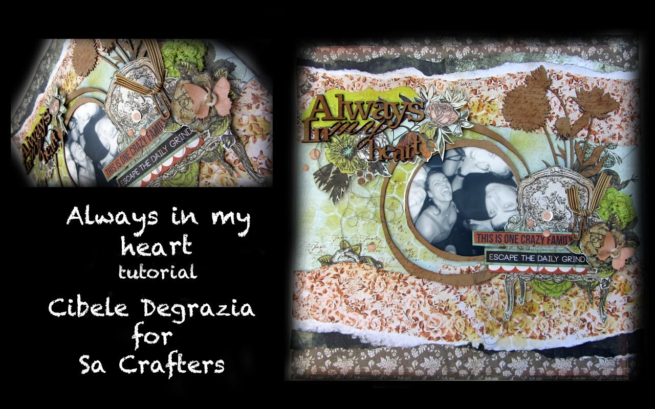 Layout by Cibele Degrazia For SaCrafters - DIY Tutorial