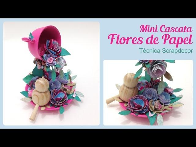 Mini Cascata Com Flores de Papel