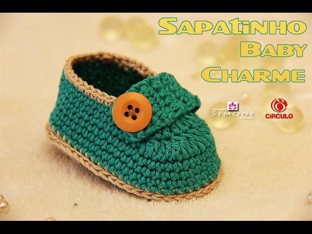 Passo a passo Sapatinho Baby Charme - Professora Simone
