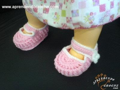 Sapatinho para Bebê em Croche Ingrid - 3º Parte - Aprendendo Crochê