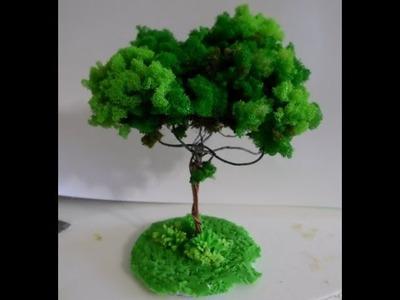 Árvore de Espuma Triturada para Maquete ou Decoração Parte 1.3_Por Lucilia Dantas