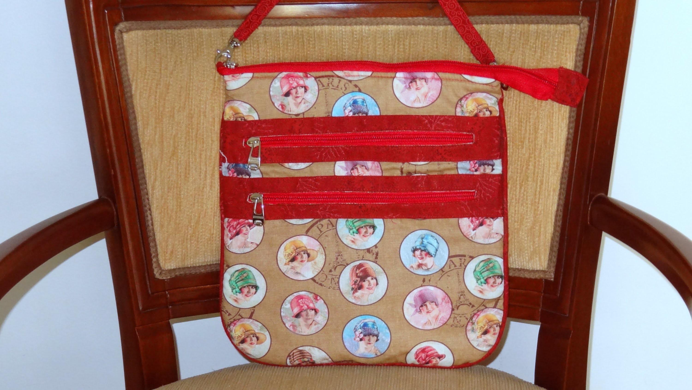 Bolsa em tecidos das moças - Maria Adna Ateliê - Cursos e aulas de bolsas em tecidos - Bolsas