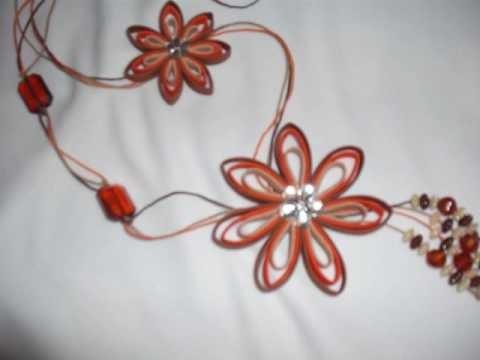 Colares, broches, tic-tac, xuxinha de cabelo com flores de vies
