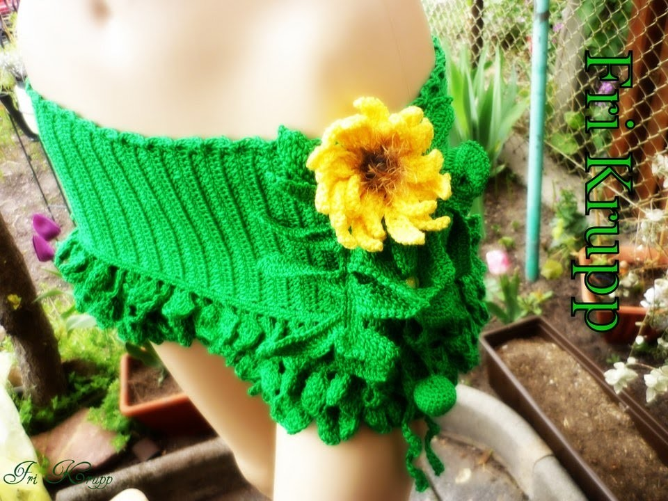 "Conjuntinho em croche ""Natureza indígena"" Crochet cropped  (top-skirt) ""Indigenous Nature"" Häkelset"