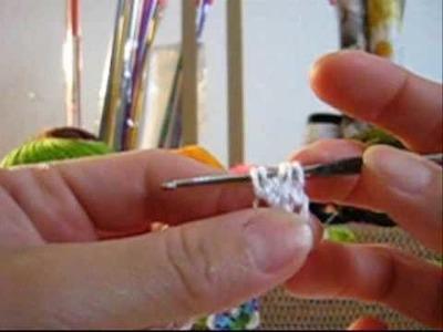 Croche - Guia de Pontos - Ponto Pipoca (Variação 1)