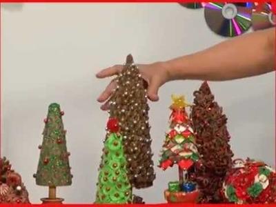 Dicas de Enfeites de Natal - Como fazer árvores de Natal (02 de 04)