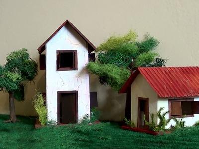 Diorama Maquete: casa de alvenaria - Maquete: brick house - Maqueta: casa de ladrillo