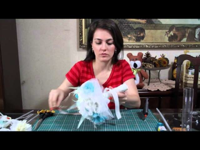DIY - Bouquet de broches e tecidos - 4ª parte