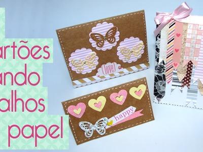 DIY Cartão com retalhos de papel- Scrapbook by Tamy