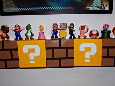 DIY - Prateleira de blocos do Mario (Nintendo)