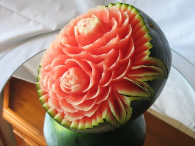 How to make a watermelon carving - Art with fruit and vegetables, by Jp.Gondomar