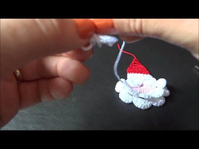 Papai Noel em Crochê ( parte 2- gorro e acabamento)