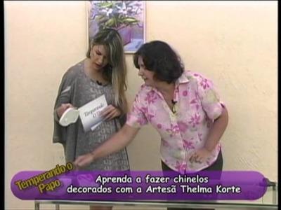 Passo a passo de chinelo em macramê com Thelma Korte