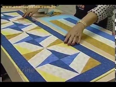 Patchwork com Ana Cosentino: Caminho de Mesa Catavento (Programa Vitrine na Tv)