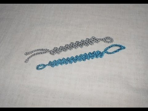Pulseira a Zig Zag trabalhada em Crochê - Pulsera de ganchillo - crochet bracelet