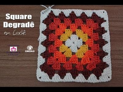 Square Degradê em crochê - Professora Simone