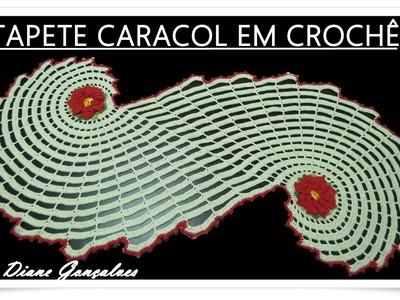 TAPETE CARACOL EM CROCHÊ
