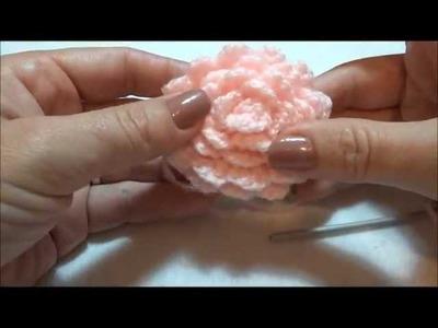Touca em Crochê Maria Flor Parte-2