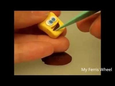 Tutorial - Como fazer uma miniatura do Bob Esponja com Polymer Clay - SpongeBob