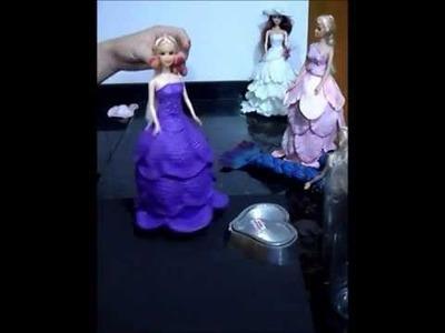 Video Aula-Boneca Vestido EVA ( Papoula Portuguesa) Parte1