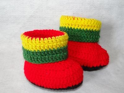 Botinha Jamaica em Crochê Parte -1