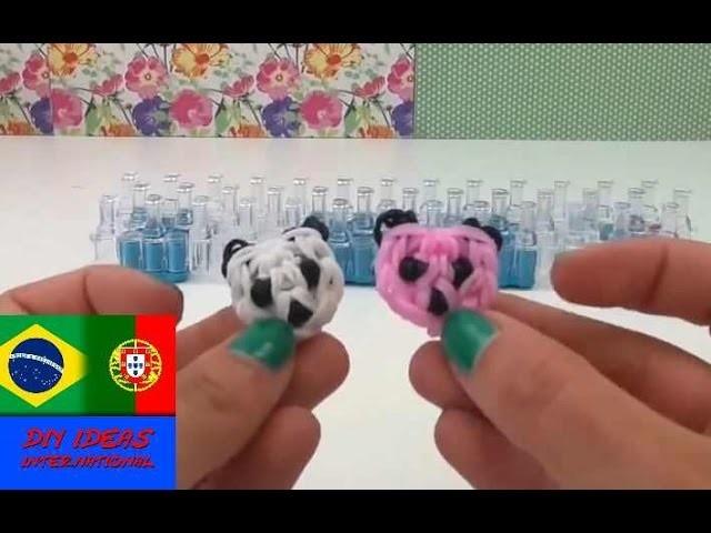 Como fazer rostinho de panda chaveiro com agulha de crochet e tear instruções