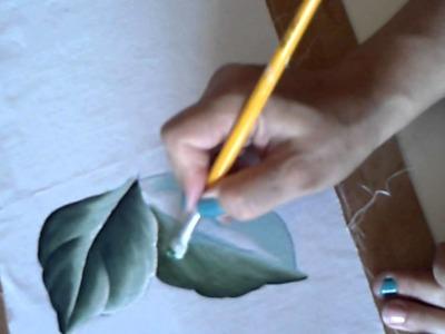 Como pintar folhas c. Dina Gomes