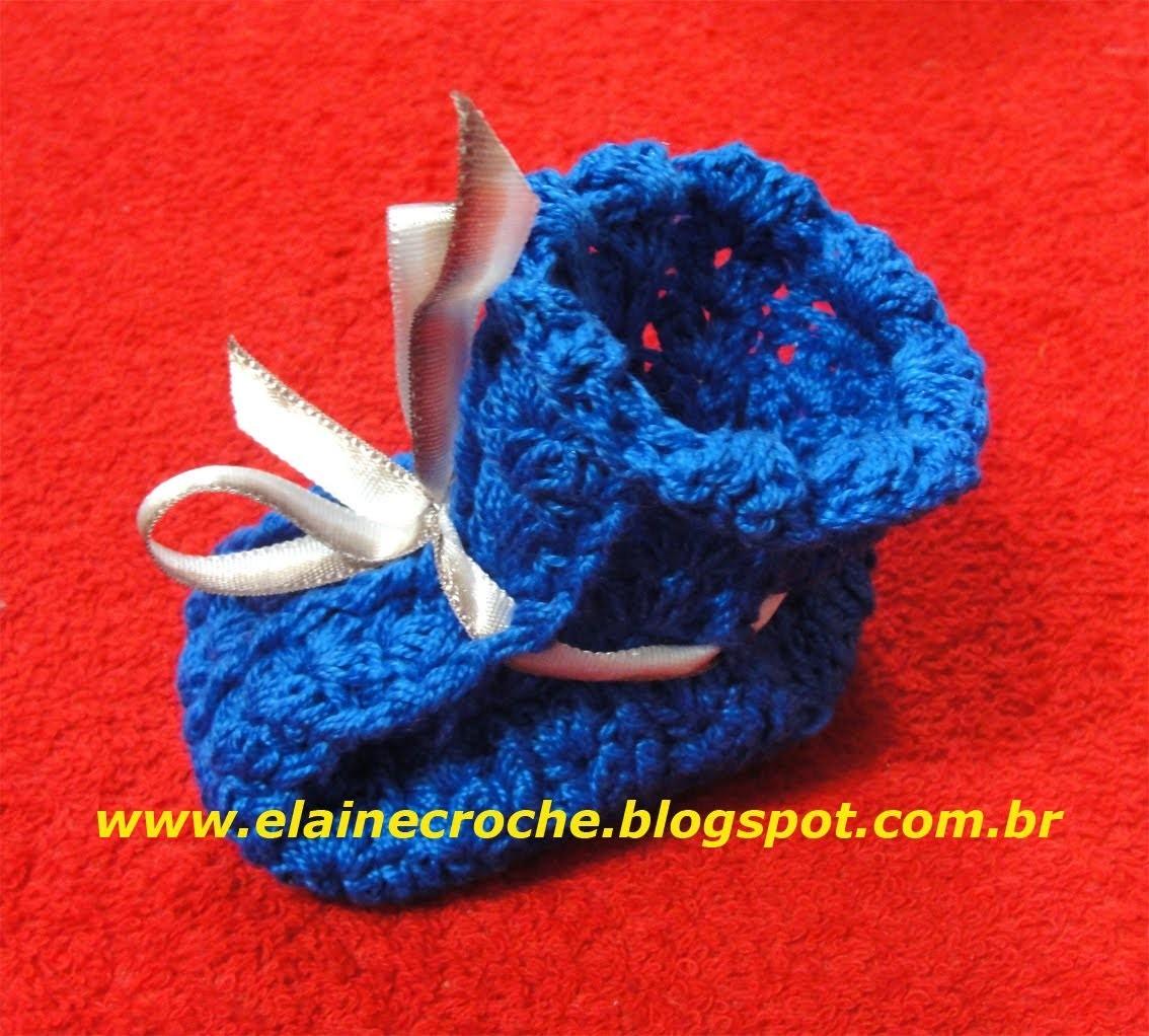 CROCHE - SAPATINHO IRIS BABY