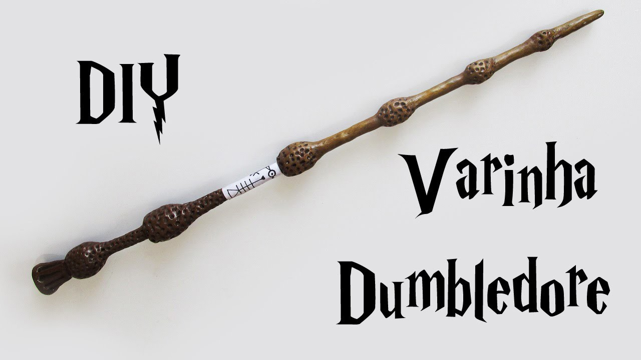 DIY: Como Fazer a Varinha do Dumbledore (Harry Potter Wands)