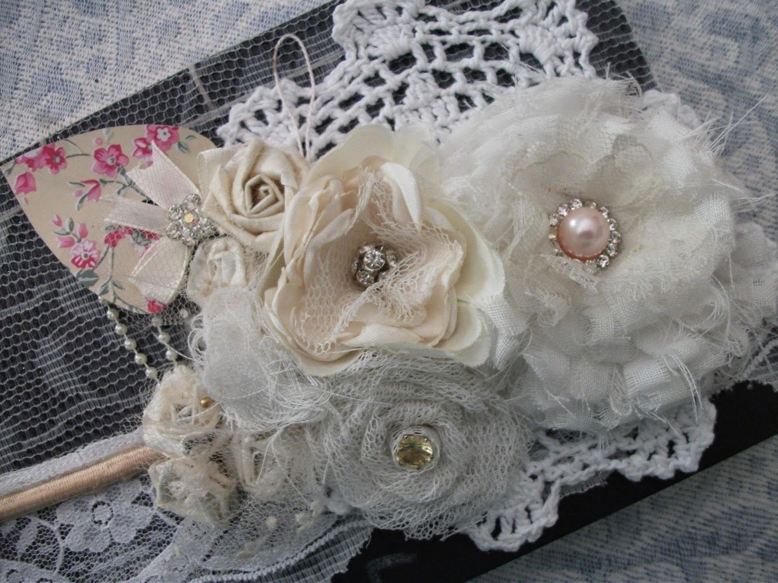 DIY: Flores de tecidos vintage, shabby chic.