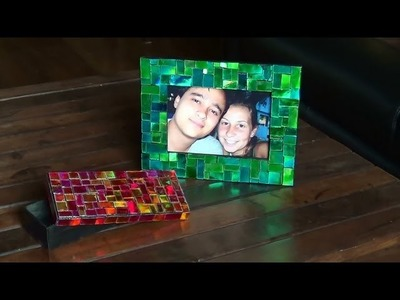 DIY - Mosaico com CDs - Mosaic with CDs