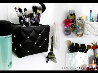 Faça você mesma Porta maquiagem e pincel luxo e barato | Poly Gonçalves