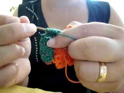 Flor de croche cone - Video 3