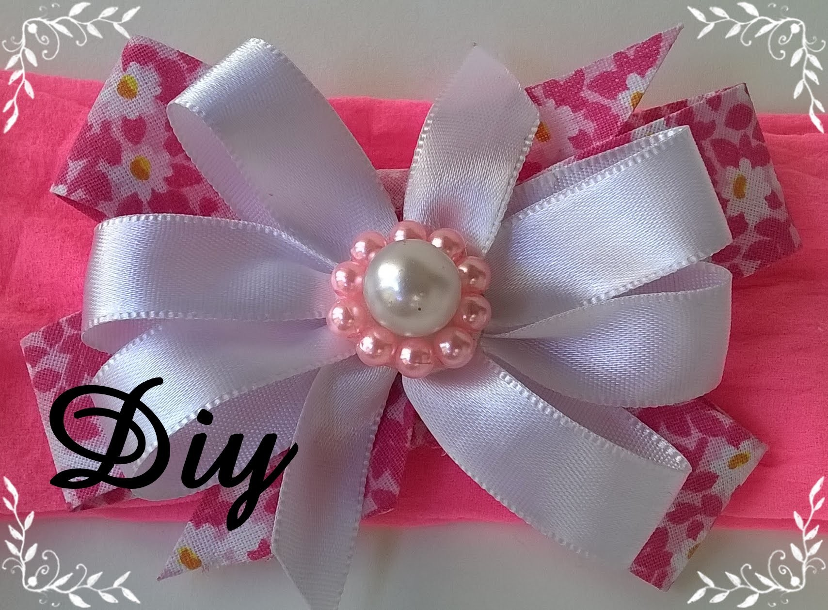 Laço de viés e fita de cetim com gabarito DIY \ Bias lace and satin ribbon with feedback DIY