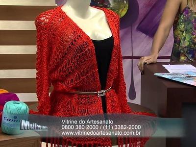 Mulher.com 11.12.2014 Kimono Trico por Vitoria Quintal parte 1