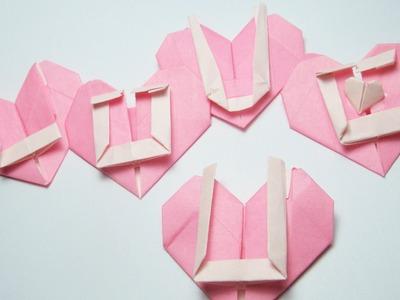 Origami Tutorial : Heats Love U