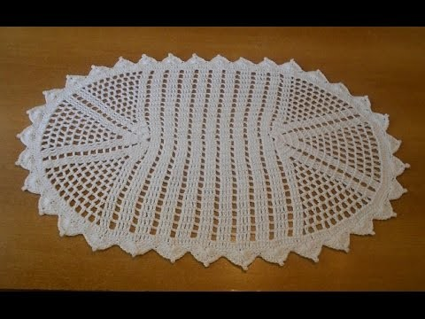 Tapete Simples de crochê oval em barbante parte 1 - crochet rug - alfombra de ganchillo