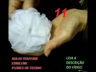 AULA 11: FLORES BONITAS, FÁCEIS E RÁPIDAS PARA ROUPAS E CABELOS (leia a descrição do vídeo)