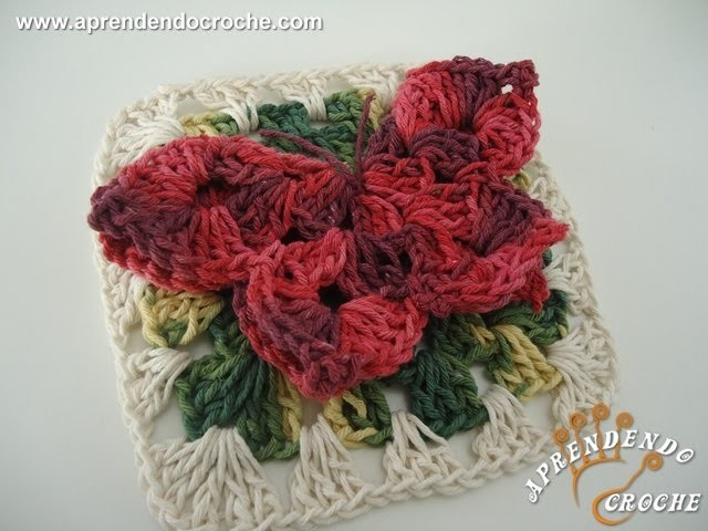 Borboleta Croche Rainha - 1º Parte -  Aprendendo Crochê