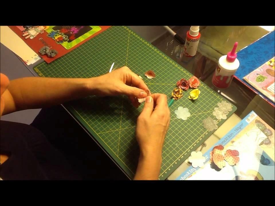 Clube do Scrapbook - Episódio 3 - Flor de Papel