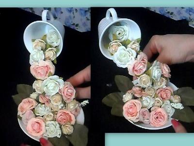 Como fazer CASCATA DE FLORES!!! para decoração