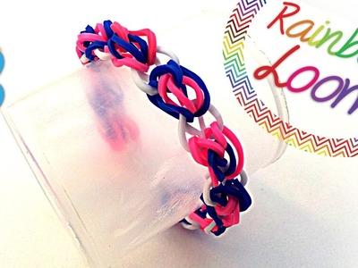 Como fazer pulseiras de elásticos - Pulseira de Corações