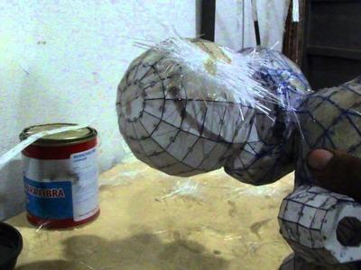Como resinar papercraft - parte 6 - overdosegamer.blogspot.com.br