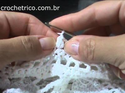 Crochê Irlandês - Bata Branca - Parte 01.04