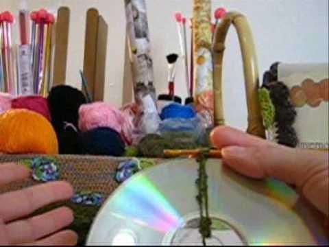 Crochê Tradicional - Bolsa de CDs Estruturada - Parte 02