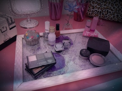 DIY Porta Makeup Perfume Vanity Home Decor Glitter ♡