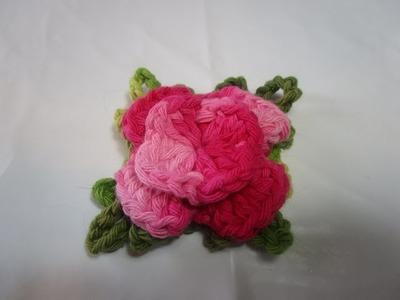 Flor Quatro Petalas em Crochê