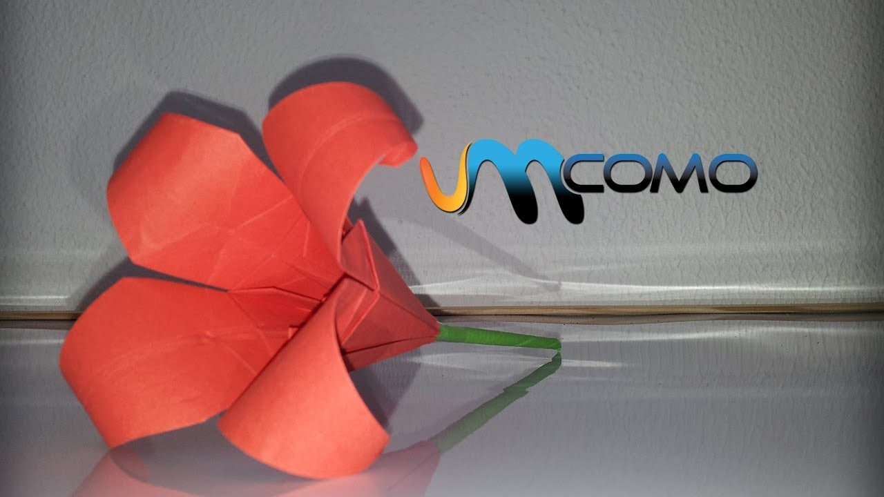 Origami - Como fazer uma flor em papel